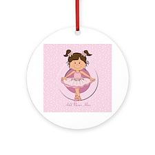 Personalized Ballerina Ballet Ornament (Round)