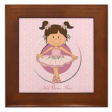 Personalized Ballerina Ballet Framed Tile