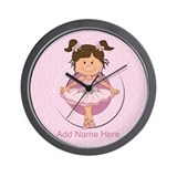 Personalized Ballerina Ballet Wall Clock