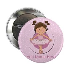 "Personalized Ballerina Ballet 2.25"" Button"