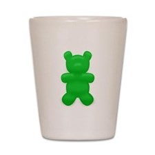 Green Gummi Bear Shot Glass