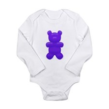 Dark Blue Gummi Bear Long Sleeve Infant Bodysuit
