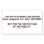 Protect Sticker (Rectangle 50 pk)