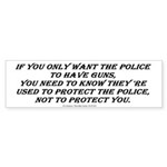Police Only Sticker (Bumper 50 pk)
