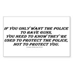 Police Only Sticker (Rectangle)
