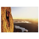 Wyoming, Grand Teton Park, climber