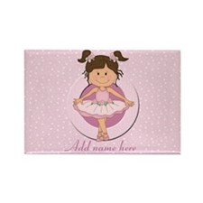 Personalized Ballerina Ballet Rectangle Magnet (10