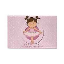 Personalized Ballerina Ballet Rectangle Magnet (10