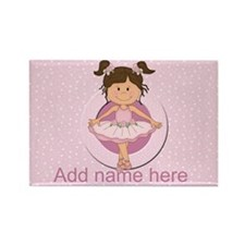 Personalized Ballerina Ballet Rectangle Magnet