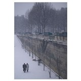 France, Paris, Seine River, winter