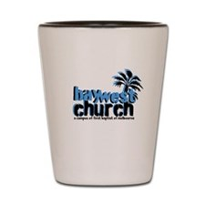 Cute Church bay Shot Glass