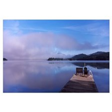 Pier at a lake Fourth Lake Adirondack Mountains Ne