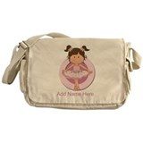 cute pink Ballerina Ballet Messenger Bag