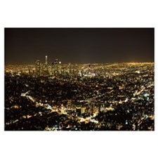 Aerial view of a cityscape Los Angeles California