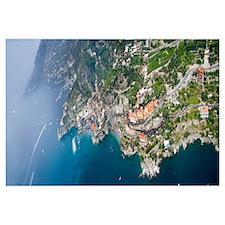 Aerial view of a town Atrani Amalfi Coast Salerno