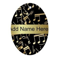 designer gold Musical notes Ornament (Oval)