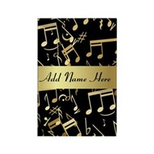 designer gold Musical notes Rectangle Magnet (10 p