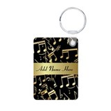 designer gold Musical notes Keychains