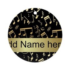 designer gold Musical notes Ornament (Round)
