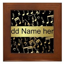 Personalised designer gold Mu Framed Tile