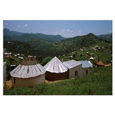 Rural houses in a valley Umgeni Valley Nature Rese