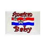 American Baby Rectangle Magnet