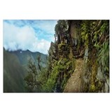 Inca Trail at the mountainside Machu Picchu Cusco