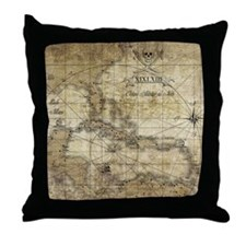 World of Pirates Throw Pillow