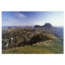 High angle view of a city Arthurs Seat Edinburgh S