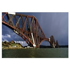 Railway bridge across a river Firth Of Forth Rail