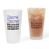 Nerd Wars 8-Bit no Background Drinking Glass
