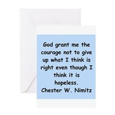 chester nimitz Greeting Card