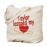 Taylor Lassoed My Heart Tote Bag