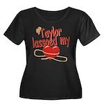 Taylor Lassoed My Heart Women's Plus Size Scoop Ne