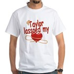 Taylor Lassoed My Heart White T-Shirt
