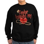 Taylor Lassoed My Heart Sweatshirt (dark)