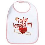 Taylor Lassoed My Heart Bib