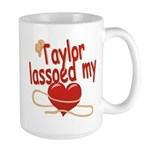 Taylor Lassoed My Heart Large Mug