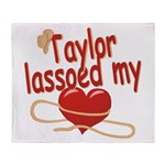 Taylor Lassoed My Heart Throw Blanket