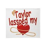 Taylor Lassoed My Heart Throw Blanket