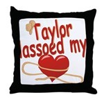 Taylor Lassoed My Heart Throw Pillow