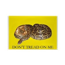 Don't Tread On Me Burmese Python Rectangle Magnet