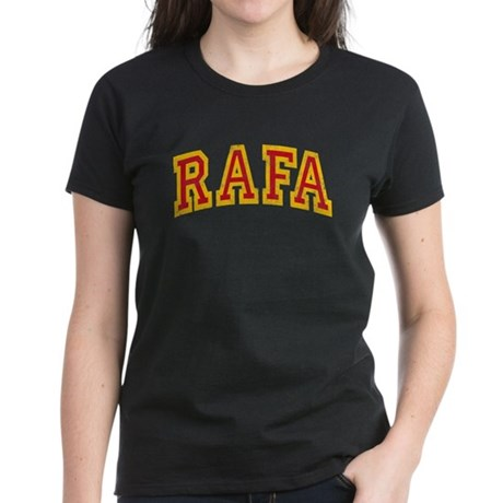 Rafa Red & Yellow Women's Dark T-Shirt
