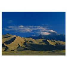Sand dunes in the desert, Great Sand Dunes Nationa