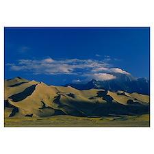 Sand dunes in the desert, Great Sand Dunes Nationa