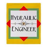 Hydraulic Engineer Block Throw Blanket