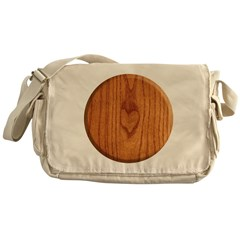 Wood Heart Messenger Bag