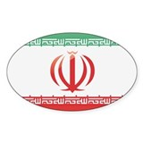 Iranian Flag Oval Decal