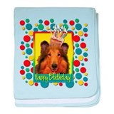 Birthday Cupcake - Collie baby blanket