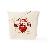 Travis Lassoed My Heart Tote Bag